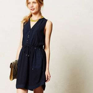 Anthropologie Maeve Pelona Shirtdress in Navy